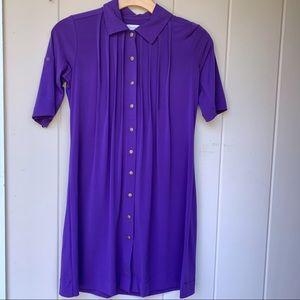 Calvin Klein   Purple Snap Button Dress  2437